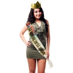 """FAIXA E COROA """"A RAINHA DA FESTA"""" EM ESPANHOL"""